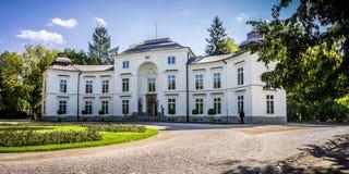 Myslewicki Palace, Lazienki Park in Warsaw, Poland Stock Images