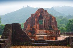 MySon temples in cloudy weather Vietnam. MySon temples in cloudy weather in Vietnam Stock Photo