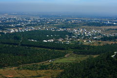 Mysore city aerial view Stock Photo