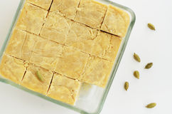Mysore pak - traditional indian dessert made of chickpea flour Royalty Free Stock Photography