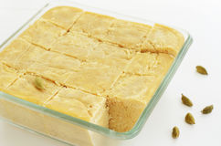 Mysore pak - traditional indian sweet made of chickpea flour Stock Images