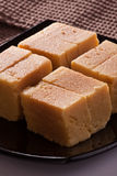Mysore Pak is a traditional sweet from India Stock Image
