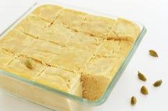 Mysore Pak - tradycyjny indyjski cukierki robić chickpea mąka Obrazy Stock