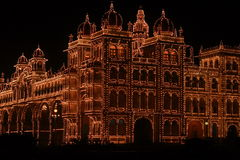 Mysore Palace In Dark-III Royalty Free Stock Images
