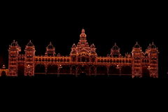 Mysore Palace In Dark-XI Stock Photography