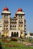 Mysore Palace and garden in India Royalty Free Stock Photo