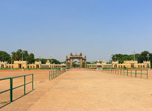 Mysore Palace gate. Mysore Karnataka Royal Palace is one of the grandest in India. Lovingly restored in 1912 after a fire burned it down. It's sheer size and Royalty Free Stock Image