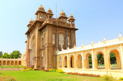 Mysore Palace gate. Mysore Karnataka Royal Palace is one of the grandest in India. Lovingly restored in 1912 after a fire burned it down. It's sheer size and Stock Image