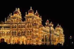 Mysore Palace in India illuminated at night Stock Photography