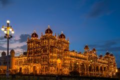 Mysore Palace, India stock photo