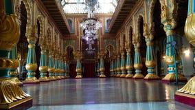 MYSORE PALACE. INTERIOR DECORATION OF MYSORE PALACE KARNATAKA stock images