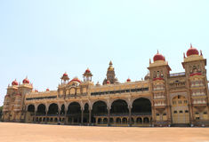 Mysore Palace. Mysore Karnataka Royal Palace is one of the grandest in India. Lovingly restored in 1912 after a fire burned it down. It's sheer size and Royalty Free Stock Photo