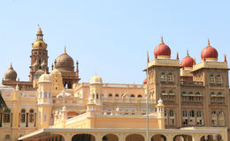 Mysore Palace. Mysore Karnataka Royal Palace is one of the grandest in India. Lovingly restored in 1912 after a fire burned it down. It's sheer size and Stock Photography