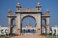 Mysore palace - main gate. Main gate of Mysore Maharajah's palace (India Royalty Free Stock Image