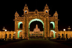 Mysore Palace at night. Royalty Free Stock Image