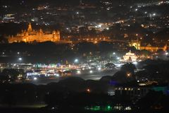 Mysore palace night view royalty free stock photography