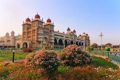 Mysore slott Arkivfoto