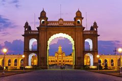 Mysore slott Arkivbilder