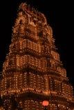 Mysore Temple At Night-III Stock Photos