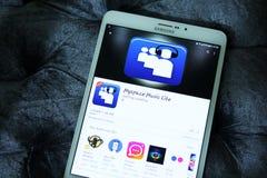 Myspace muzyczny Lite app zdjęcie stock