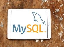 MySQL open source web application logo. Logo of MySQL open source web application on samsung tablet. MySQL is an open-source relational database management Royalty Free Stock Photo