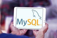 MySQL open source web application logo. Logo of MySQL open source web application on samsung tablet. MySQL is an open-source relational database management Stock Photos