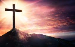 Mystère du crucifix photo libre de droits