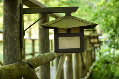 Mystereriouslamp in de tuin royalty-vrije stock foto