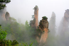 Mysteriöse Berge Zhangjiajie. Lizenzfreie Stockfotografie