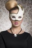 Mysteriöse Maskeradefrau Stockbilder