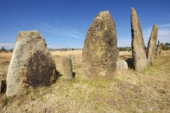Mysteriöse Megalithen-Tiya-Säulen, UNESCO-Welterbestätte, Äthiopien Lizenzfreie Stockfotos
