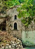 Mysteriöse orthodoxe Kirche mitten in Wald, Samos, Greec Stockbilder