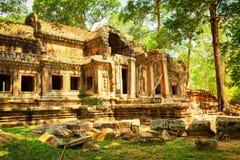 Mysteriöse Ruinen von Ta Kou Entrance in Angkor Wat, Kambodscha Lizenzfreie Stockbilder