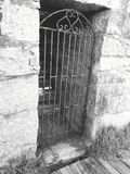 Mysteriöse Tür stockfoto
