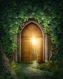 Mysteriöser Eingang Stockfotos