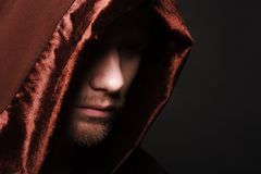 Mysteriöser katholischer Mönch Stockfotos