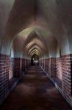 Mysteriöser Korridor Malbork-Schlosses Lizenzfreies Stockfoto