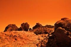 Mysteriöser terrestrischer Planet Stockbilder