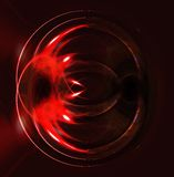 Mysterious abstract picture. Freakish convex red background stock illustration