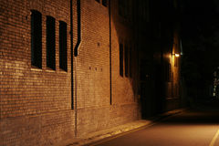 Mysterious Alley Royalty Free Stock Photography
