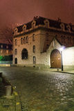 Mysterious alley. Paris, France, January 12, 2014. Mysterious narrow alley at night Royalty Free Stock Photography