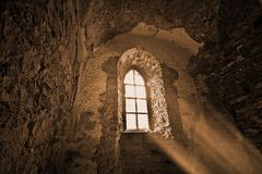 Mysterious ancient window Stock Photography