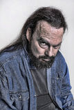 Mysterious, Angry Grunge Man Stock Photos