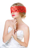Mysterious beautiful blonde Royalty Free Stock Images