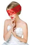 Mysterious beautiful blonde Stock Photo
