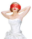 Mysterious beautiful blonde Royalty Free Stock Photo