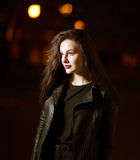 Mysterious beautiful girl. Royalty Free Stock Photography