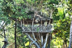 Mysterious beautiful house in the jungle . Palawan Island . Stock Photos