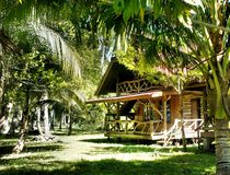 Mysterious beautiful house in the jungle . Palawan Island . Royalty Free Stock Image