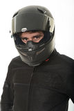 Mysterious biker Stock Images